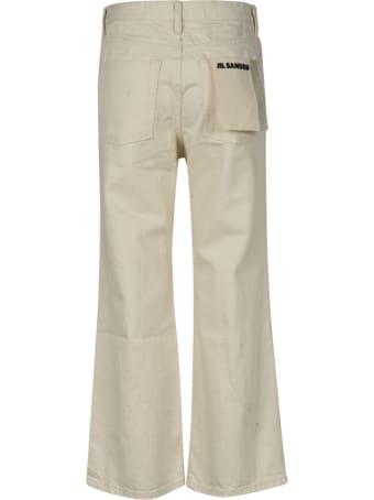 Jil Sander Wide Leg Cropped Jeans