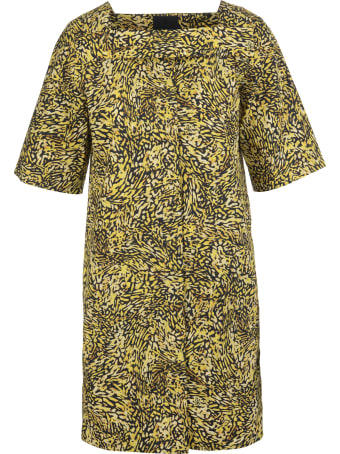 Givenchy Short Dress With Print And Square Neckline