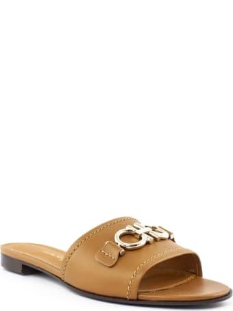 Salvatore Ferragamo Brown Leather Sandal