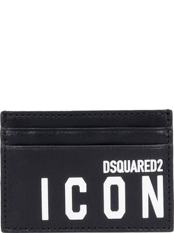 Dsquared2 Icon Wallet In Black Leather