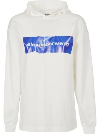 Alexander Wang Logo Print Long-sleeved Hoodie