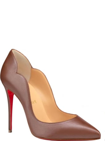 Christian Louboutin Brown Leather Hot Chick Pumps