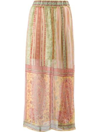 Hale Bob Silk Long Fantasy Skirt