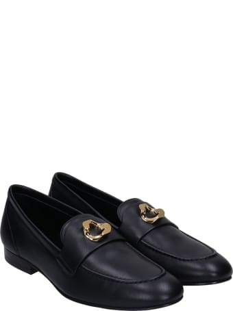 Givenchy G Chain Loafers In Black Leather
