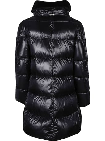 Herno Fur Applique Zipped Padded Coat
