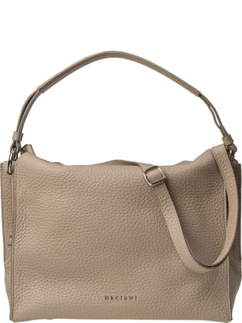 Orciani leather shoulder bag