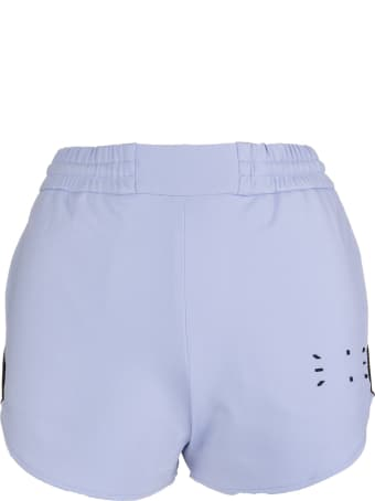 McQ Alexander McQueen Woman Lilac Sports Shorts With Logo