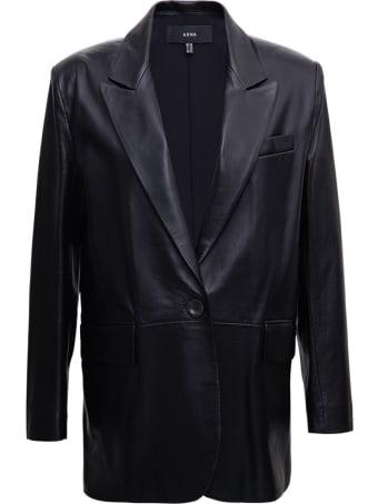 ARMA Single Breasted Blazer In Black Leather