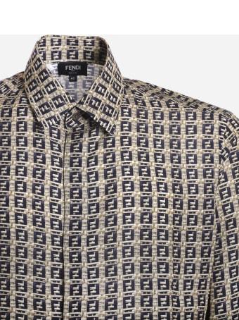 Fendi Shirt With All-over Logo Print