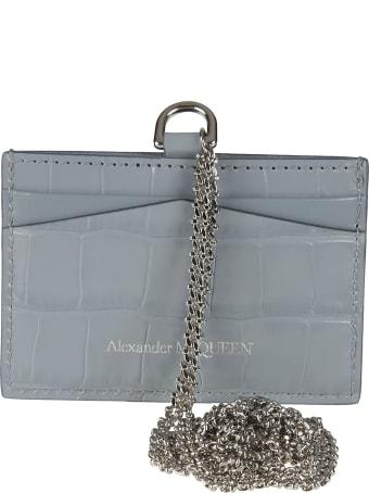 Alexander McQueen Skull Chain Card Holder