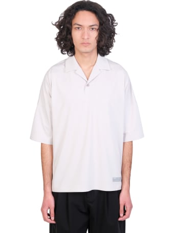 Attachment Polo In Grey Polyester