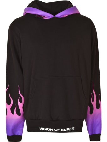 Vision of Super Flame Print Logo Hoodie