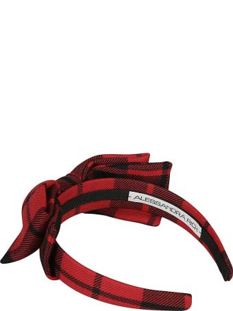 Alessandra Rich Wool Tartan Headband