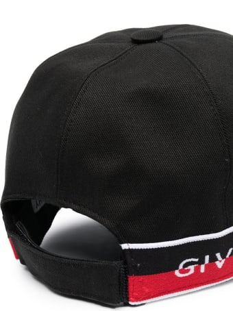 Givenchy Kid Black Baseball Cap With Two-tone Insert