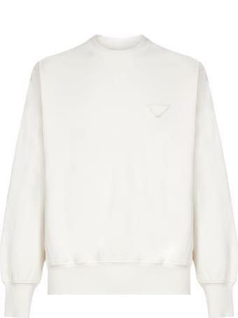 Prada Logo-patch Cotton Sweatshirt