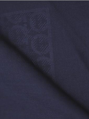 Salvatore Ferragamo Gancini Pattern Wool And Silk Scarf