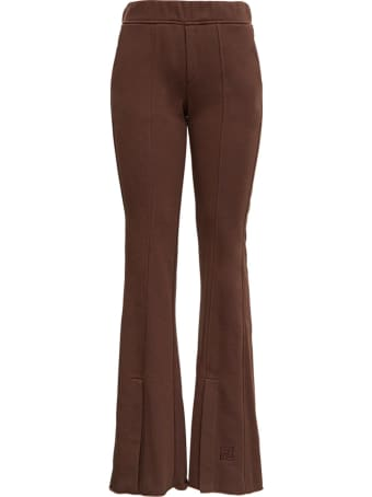 Federica Tosi Brown Flared Trousers With Slits