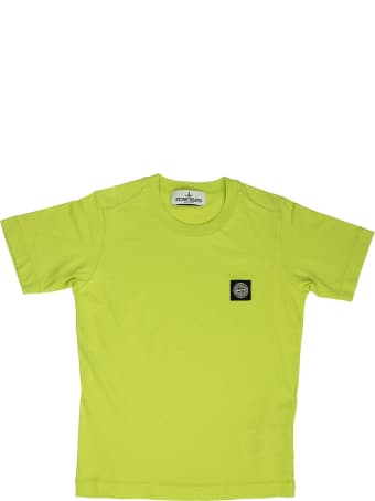 Stone Island Cotton T-shirt Lemon