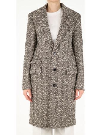 Bottega Veneta Single-breasted Herringbone Coat