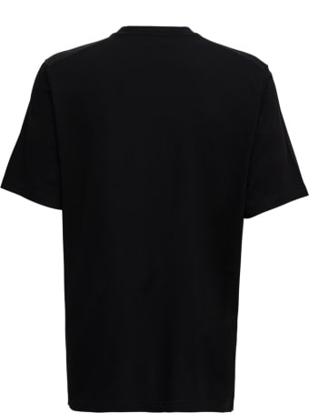 Dsquared2 Black T-shirt With Tiger Logo Print