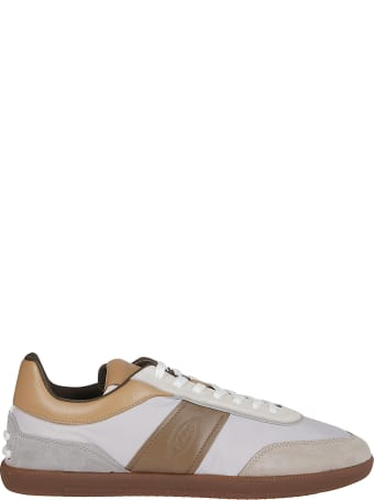 Tod's White And Brown Leather Sneakers