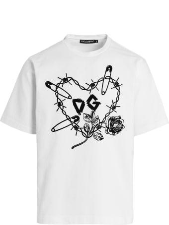 Dolce & Gabbana 'dg Cuore Spinoso' T-shirt