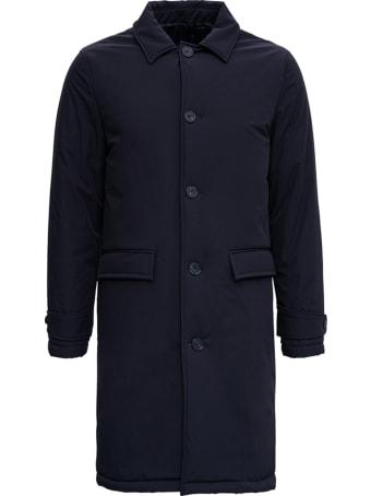 Officine Générale Aurel Blue Nylon Coat