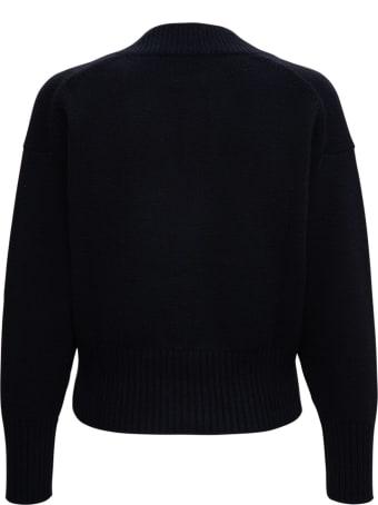 Allude Black Wool Crop Cardigan