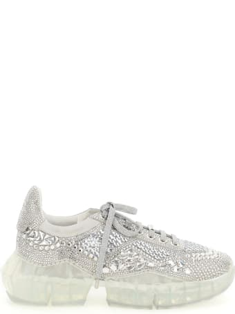 Jimmy Choo Diamond F Sneakers With Crystals