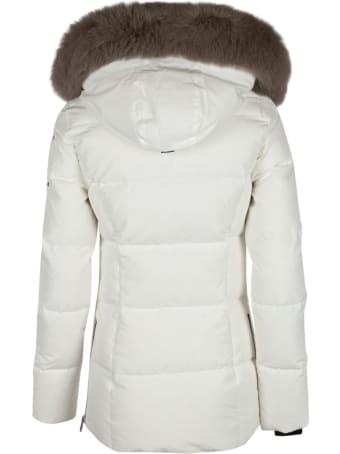Moose Knuckles Furred Hood Cropped Padded Jacket