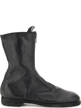 Guidi Front Zip Leather Boots