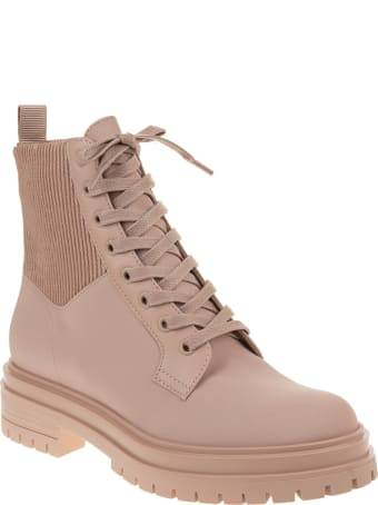 Gianvito Rossi Woman Pink Peach Martis 20 Ankle Boots
