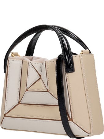Mlouye Mini Sera Tote Hand Bag In Beige Leather