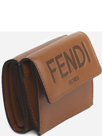 Fendi Micro Tri-fold Leather Wallet