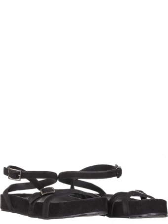 Pedro Garcia Sandal With Buckles In Black Suede
