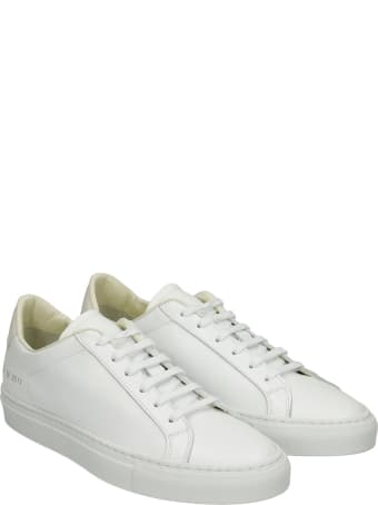Common Projects Retro Sneakers In White Leather