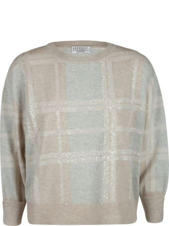 Brunello Cucinelli Check Sweater