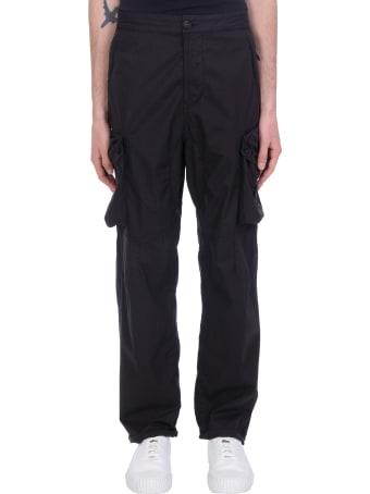 Stone Island Pants In Black Cotton
