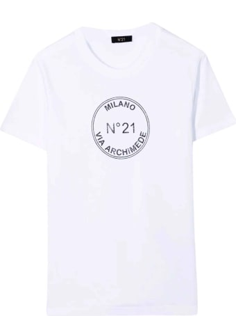 N.21 N ° 21 Kids Unisex White T-shirt