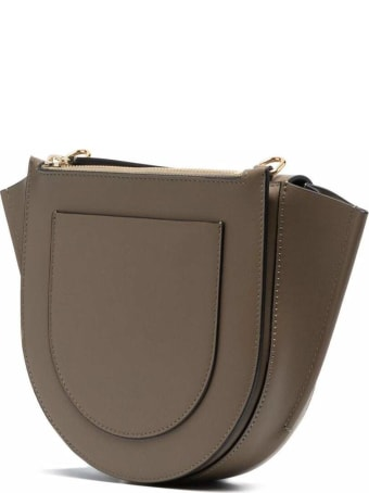 Wandler Hortensia Taupe Colored Leather Crossbody Bag
