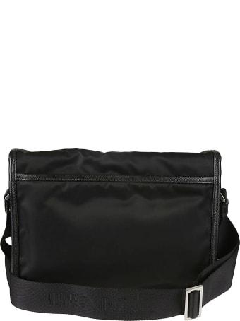 Prada Buckled Flap Logo Shoulder Bag