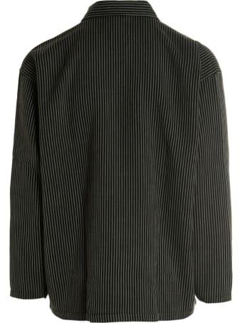 Closed Striped Work Jacket
