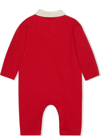 Gucci Red Heavy Cotton Jersey One Piece