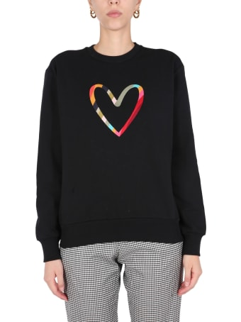 PS by Paul Smith Swirl Heart Embroidered Sweatshirt