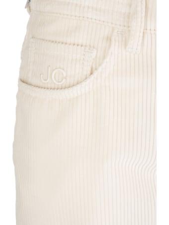 Jacob Cohen Woman White Corduroy Kimmy Jeans