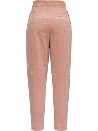 Antonelli Titano Pink Velvet Trousers