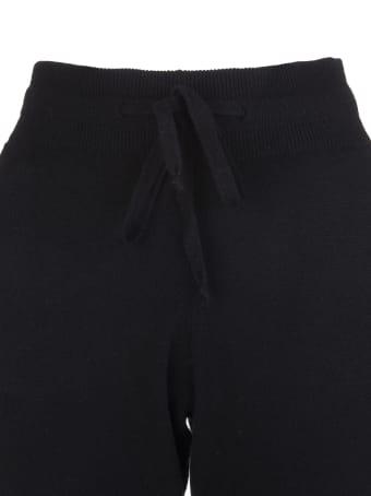 Fedeli Woman Slim Fit Joggers In Black Cashmere
