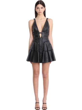 Giovanni Bedin Dress In Black Leather