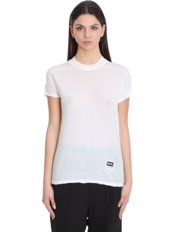 DRKSHDW Smal Llevel Tee T-shirt In White Cotton