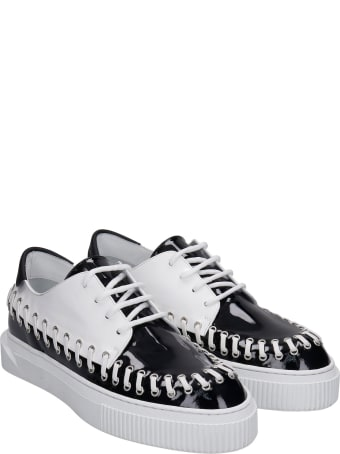 Gienchi Brooklyn Sneakers In Black Patent Leather